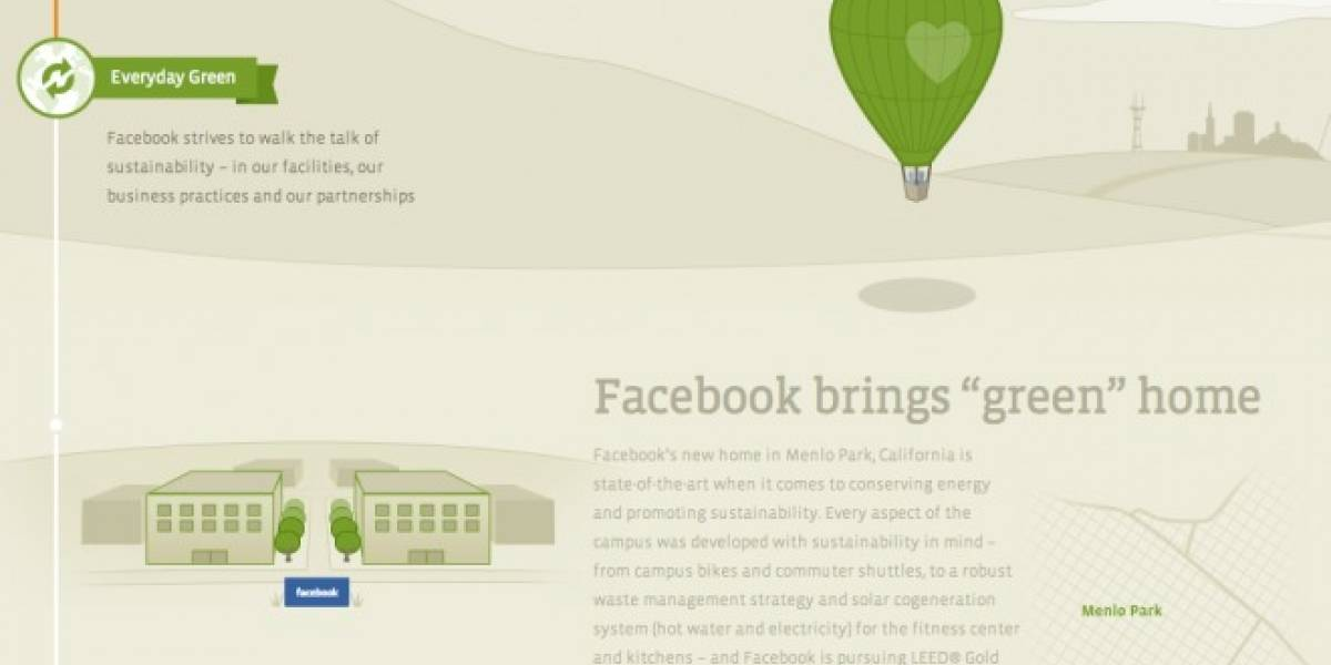El lado verde de Facebook
