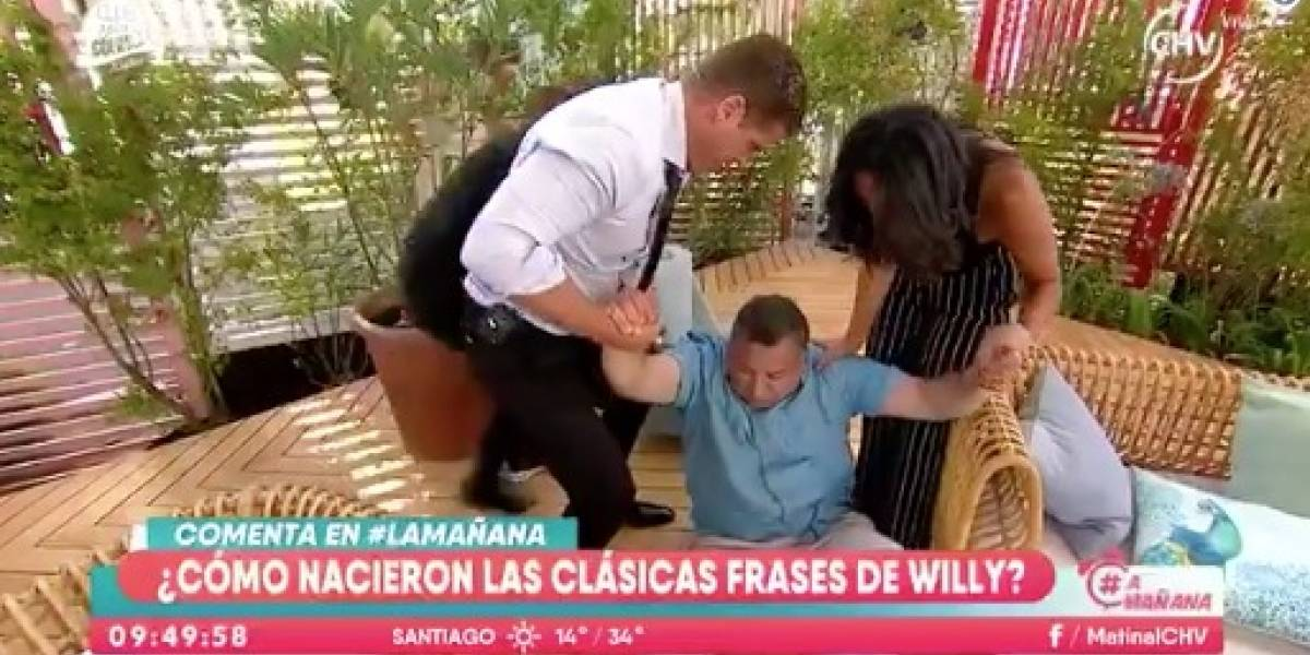 La falsa caída de Willy Sabor en el matinal de CHV