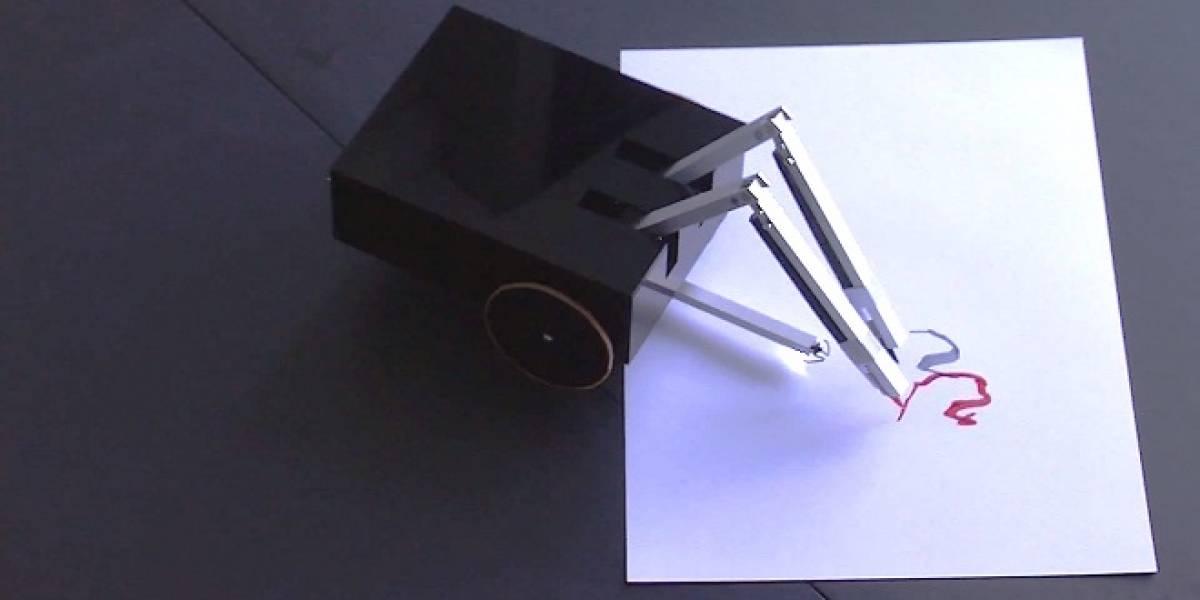 """Diseñan robot """"artista"""" que crea sus propios dibujos sin asistencia humana"""