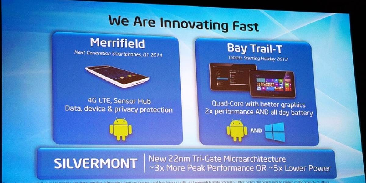 Bay Trail-T: Intel hace demostración ejecutando Windows 8 y Android en una misma tablet #CTX2013