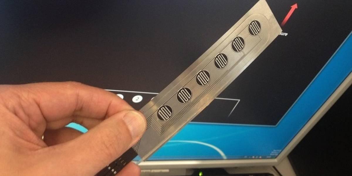 Peratech crea sensor táctil que se puede sentir a través del acero
