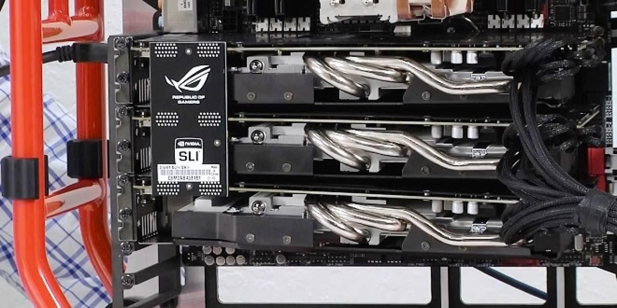 ASUS publica benchmark de su GeForce GTX 770 DirectCU II OC, en 3-way SLI