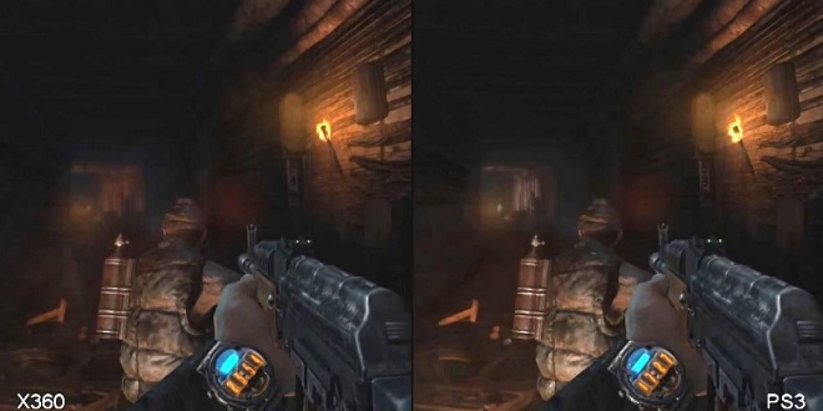 Calidad gráfica de Metro Last Light en las consolas XBox 360 y PlayStation 3