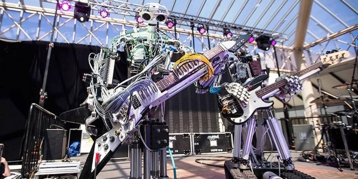 """Crean robots rockeros: Verdaderos músicos de """"metal"""""""