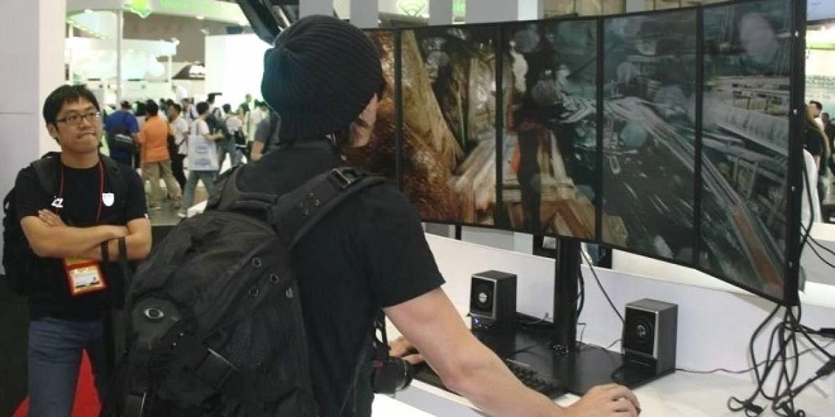 AMD hace demostración de una Radeon 7990 con cinco monitores ejecutando Tomb Raider  #CTX2013