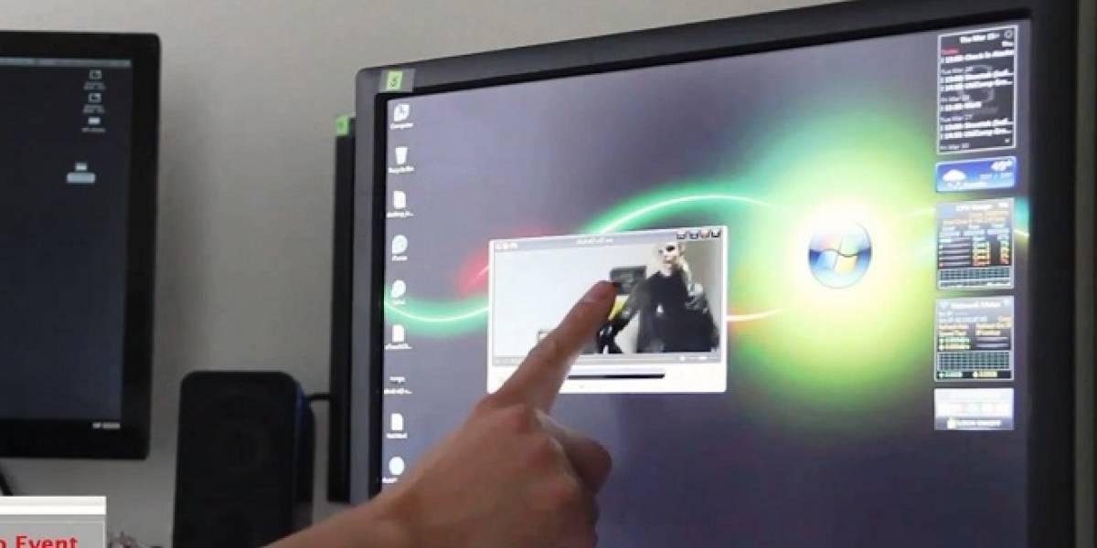uTouch: Convertir un monitor LCD estándar, en pantalla táctil