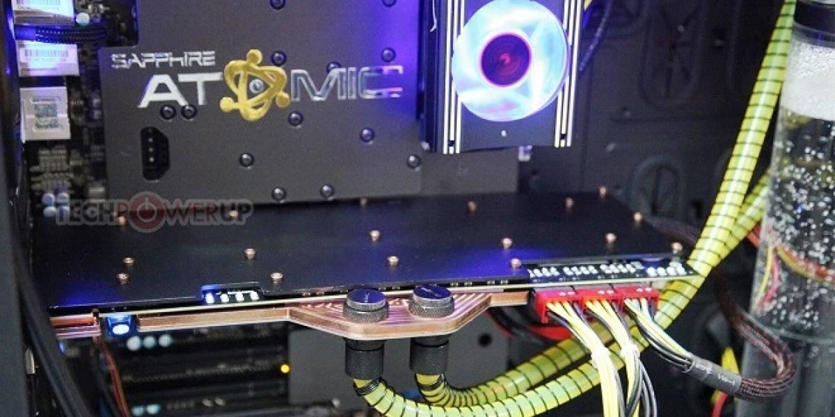 Sapphire anuncia su tarjeta con enfriamiento líquido Atomic HD 7990 #CTX2013
