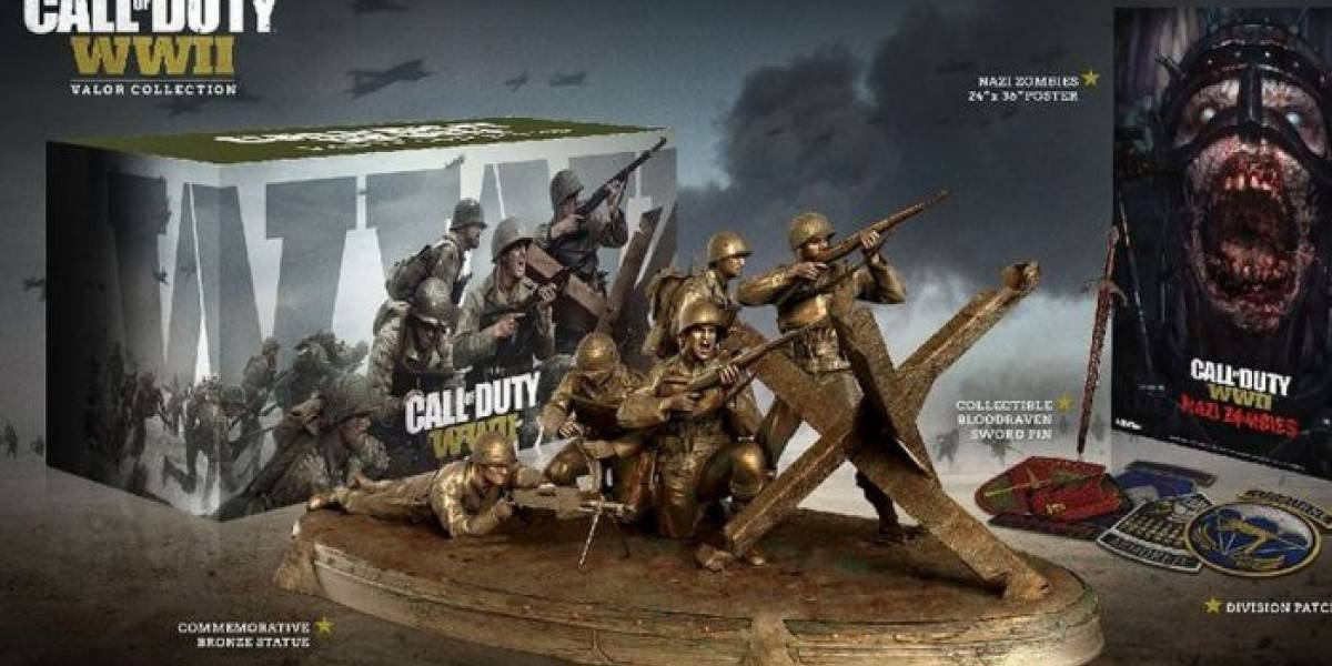 La edición de colección de Call of Duty: WW2 incluirá una estatua de bronce