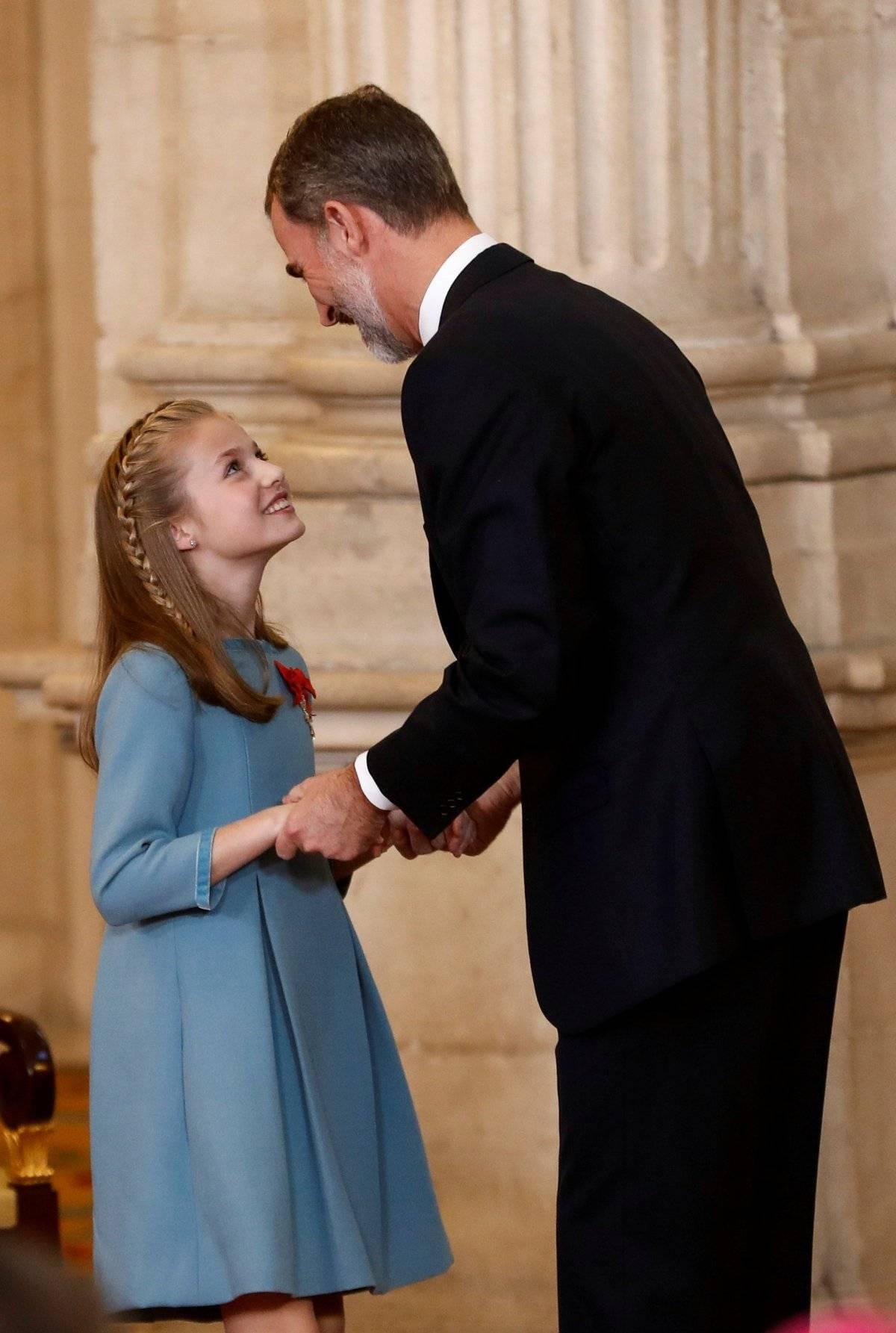 princesa Leonor e rei Felipe Espanha