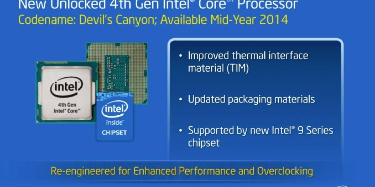 "Intel anuncia sus nuevos microprocesadores Core i7/i5 4000 Series ""Haswell-K"""