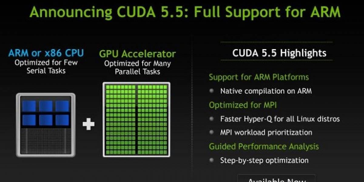 NVIDIA lanza CUDA 5.5 compatible con ARM