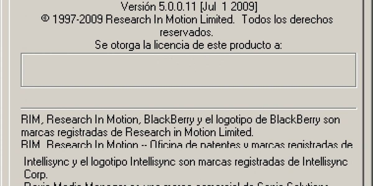 BlackBerry Desktop Manager 5.0.0 disponible para descarga