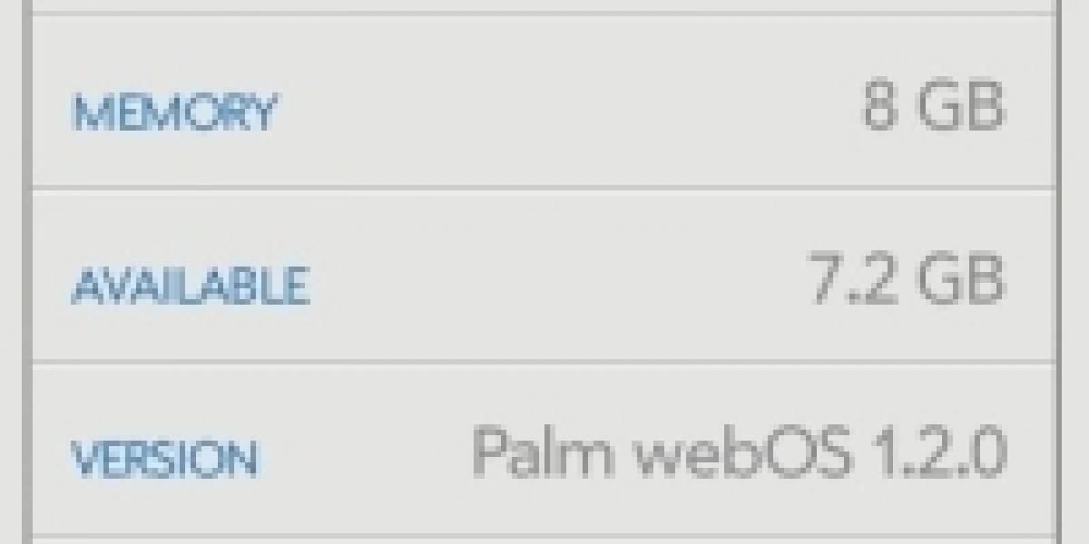 Palm lanza webOS 1.2