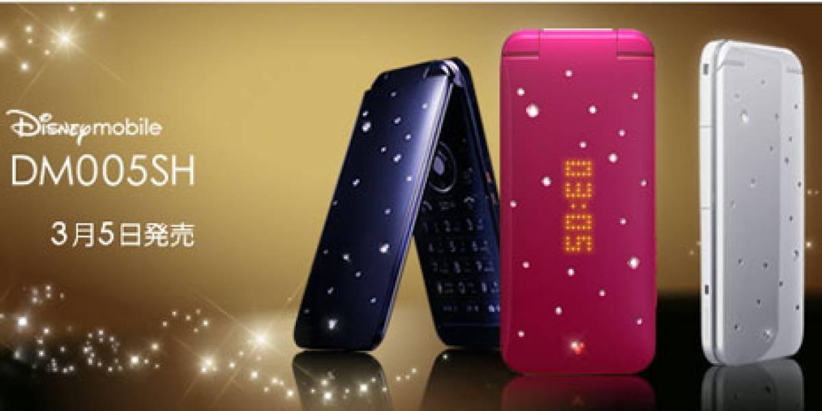 Disney Mobile presentó un nuevo móvil con diamantes, el DM005SH