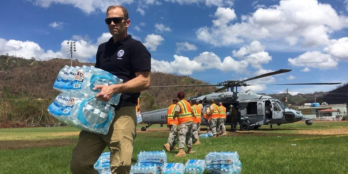 FEMA continuará distribución de agua y alimentos en Puerto Rico