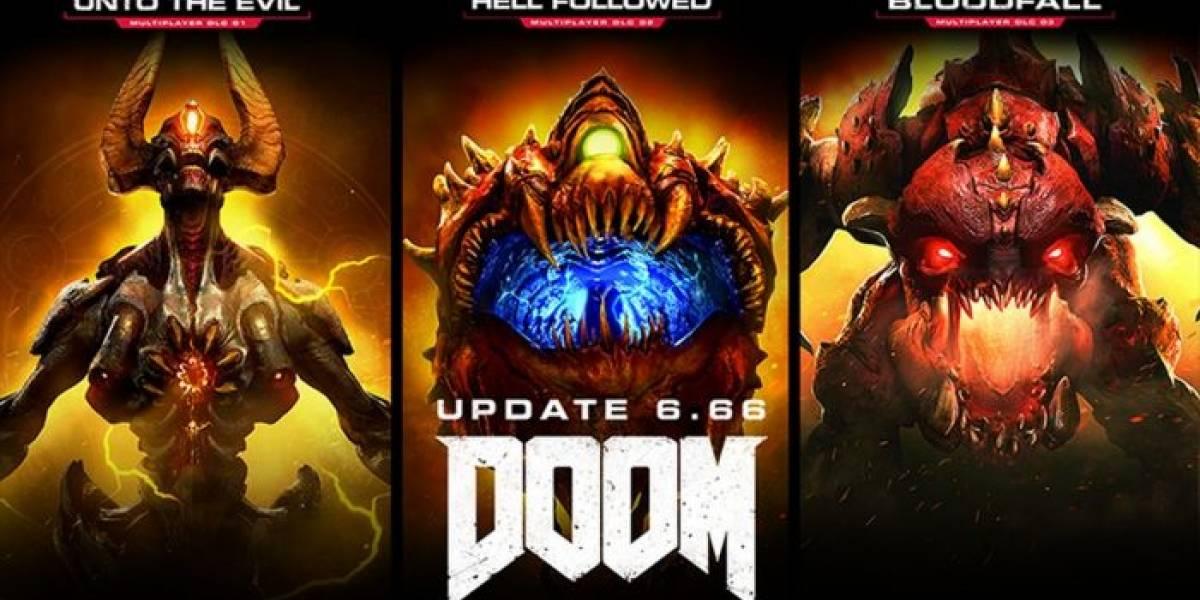 Todo el DLC de DOOM es gratuito con la actualización 6.66