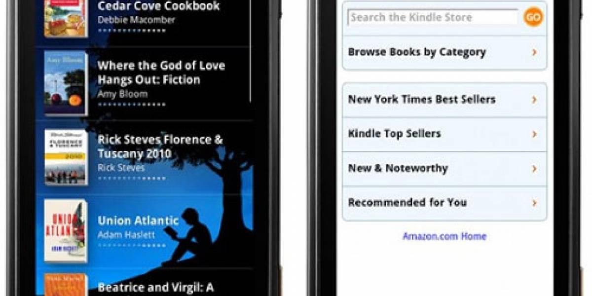 Aplicación de Amazon Kindle, ya disponible para Android