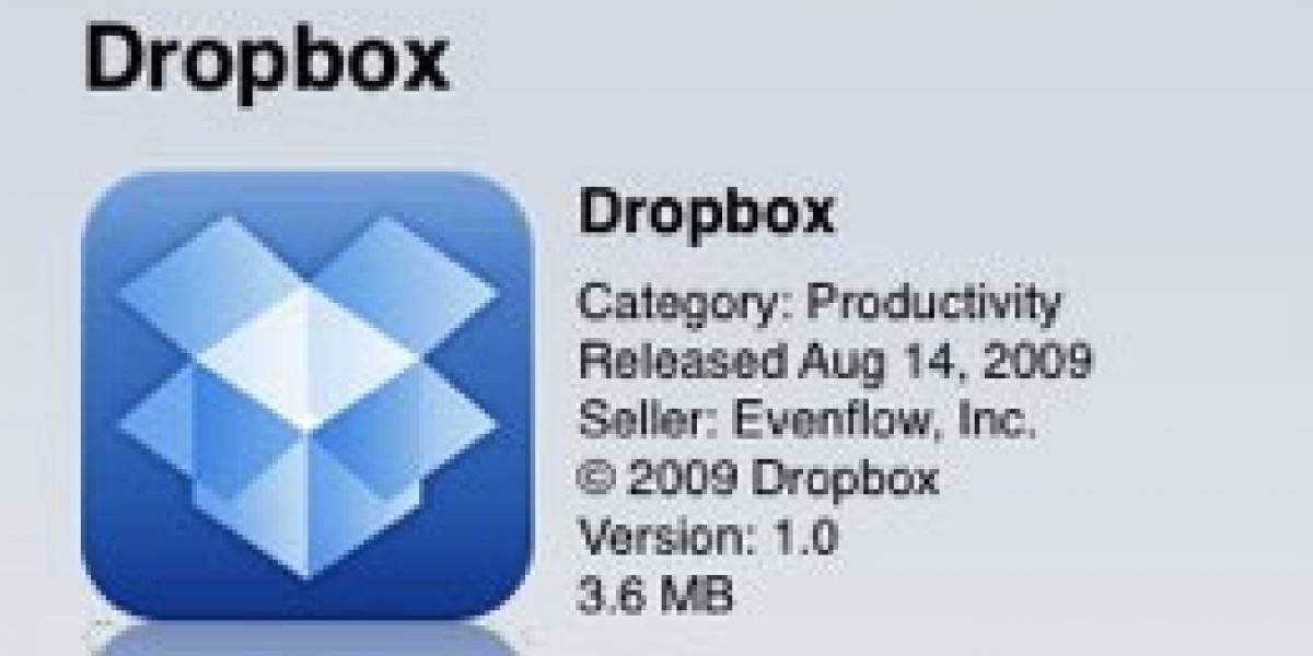 Dropbox lanzó su versión para iPhone