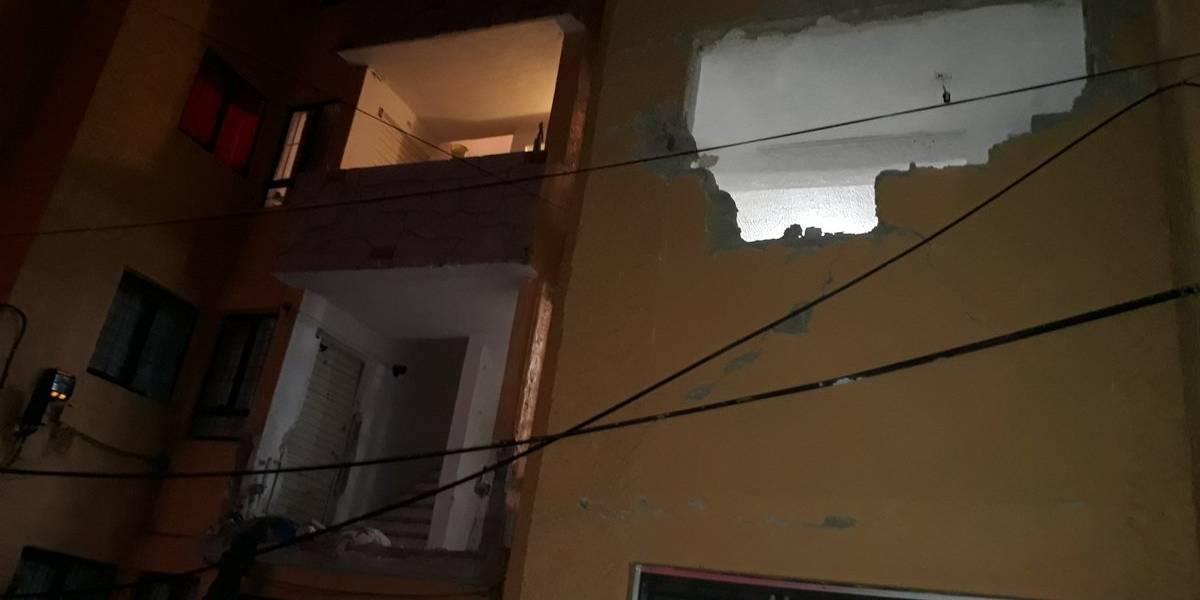 Explosión de gas daña torre de departamentos en Zapopan