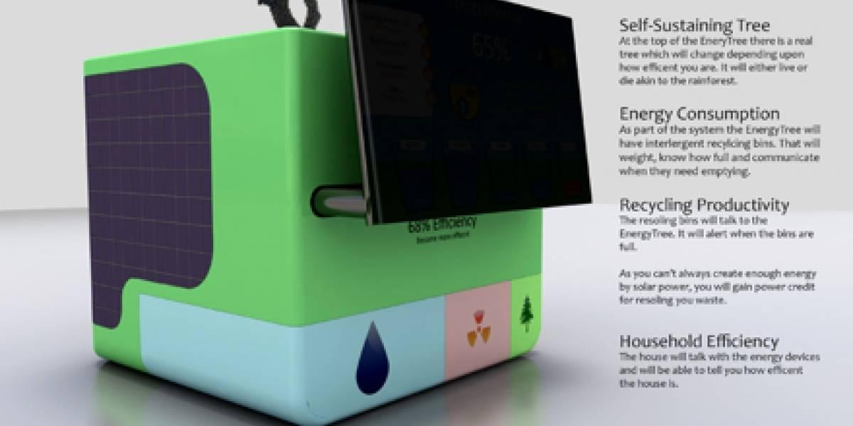 Concepto agresivo del PC Energía-Eficiente