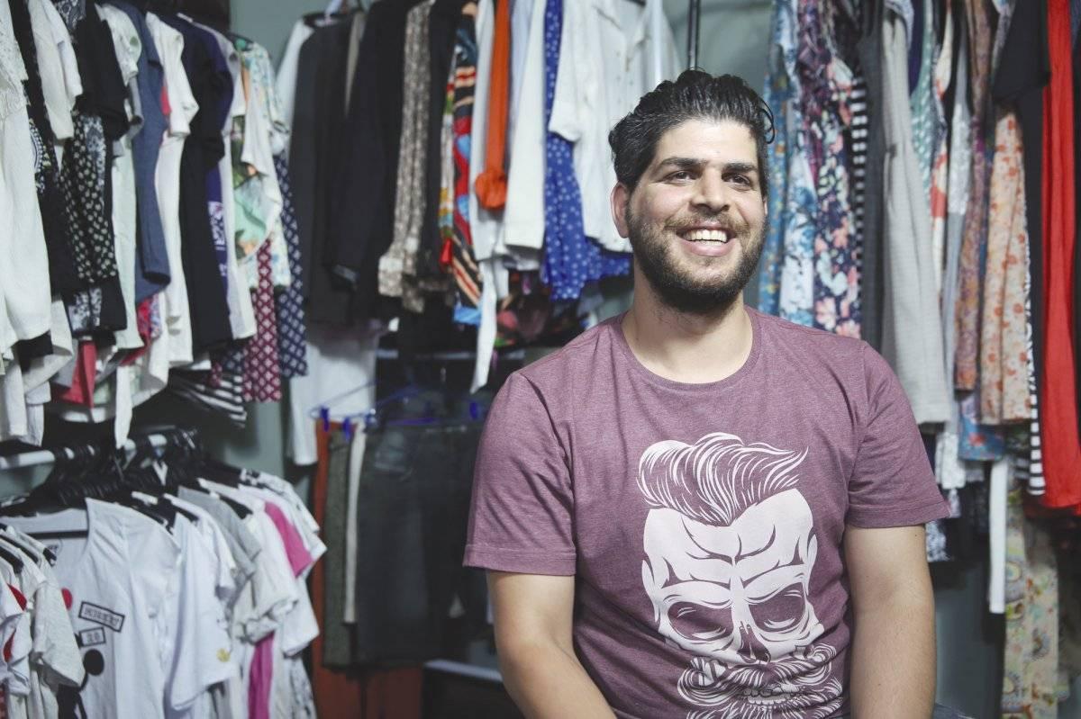 O sírio Anas Obaid tem uma galeria com estandes André Porto/Metro