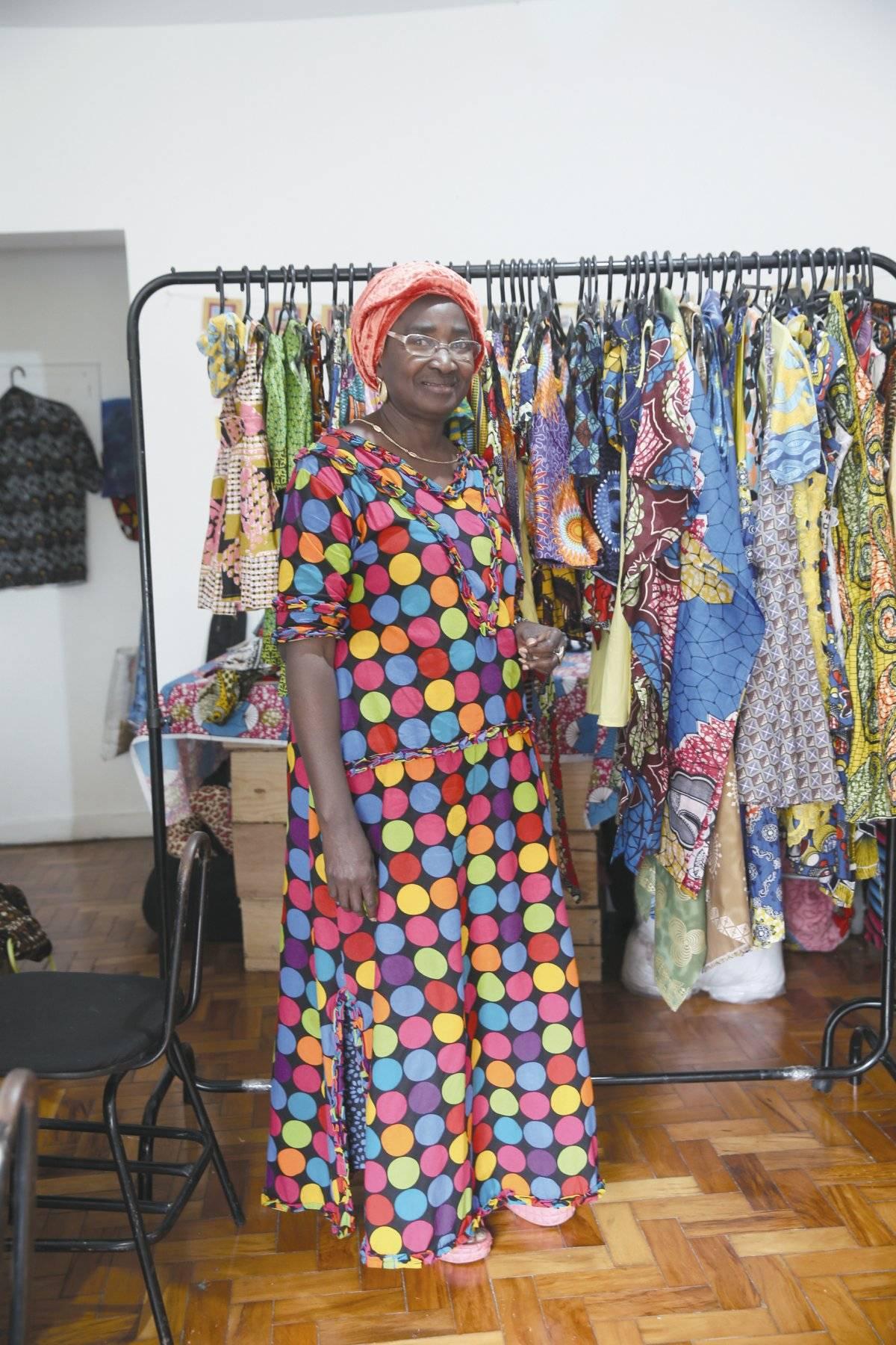 Diamou Diop contrata refugiados em sua marca André Porto/Metro