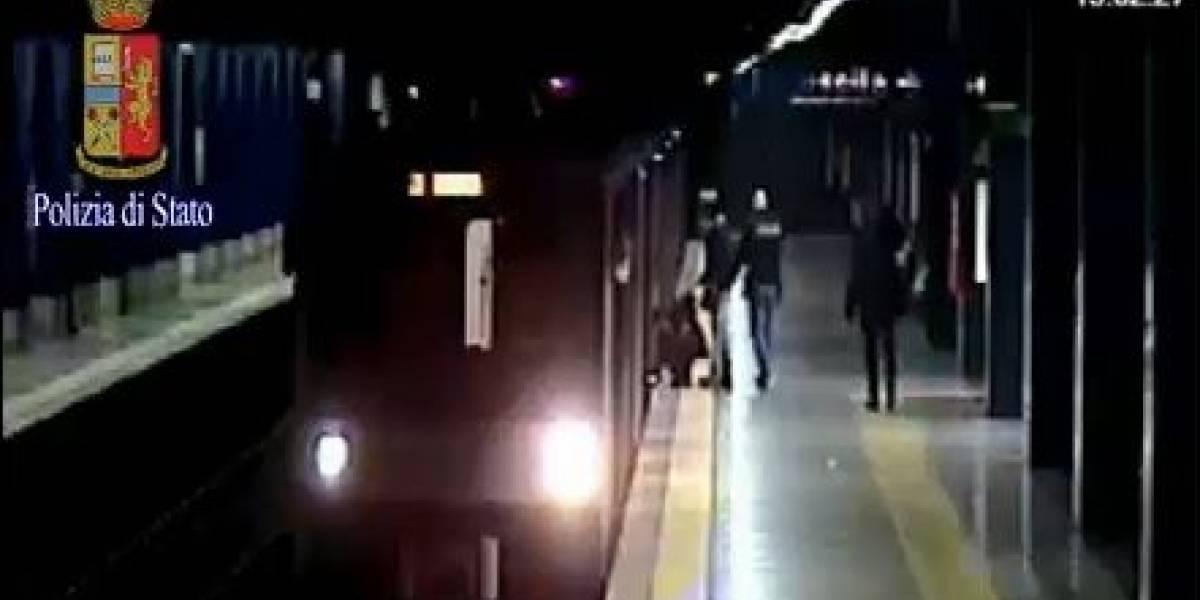 Mulher é empurrada em metrô de Roma e perde a mão