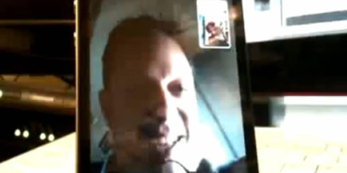 Usando FaceTime en pleno vuelo