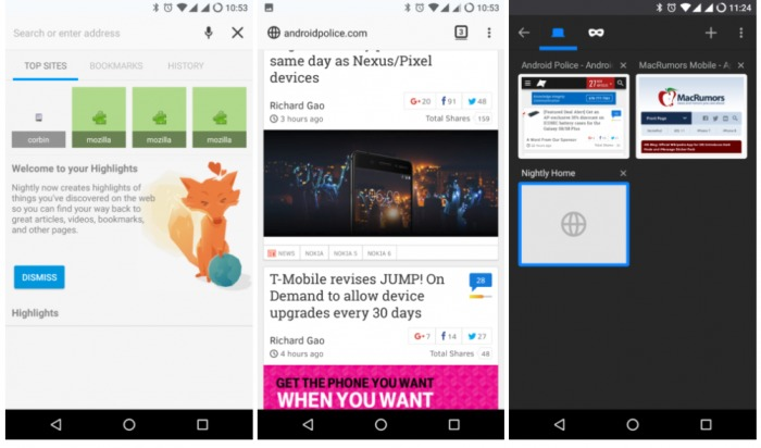 Firefox 57 Android