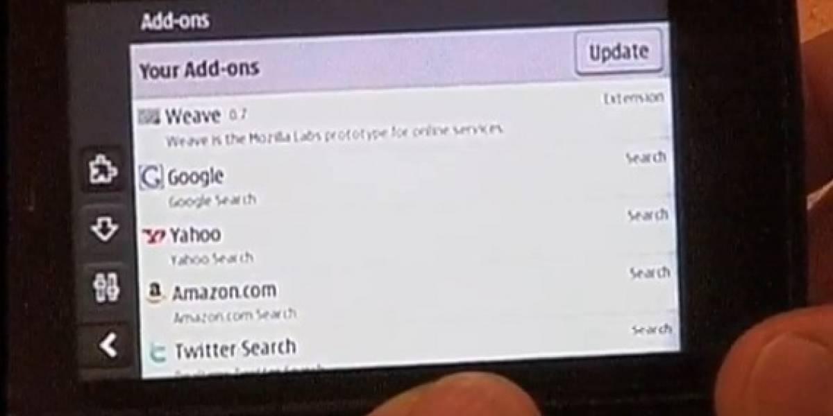 Video de Firefox corriendo en un N900