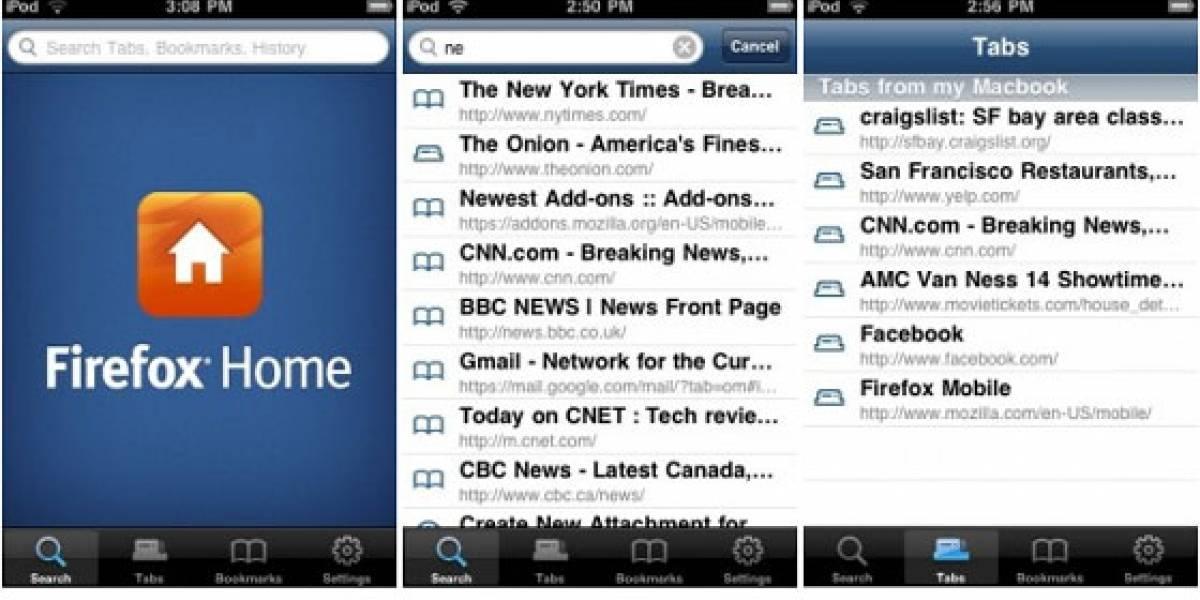 Firefox Home fue enviado a la App Store