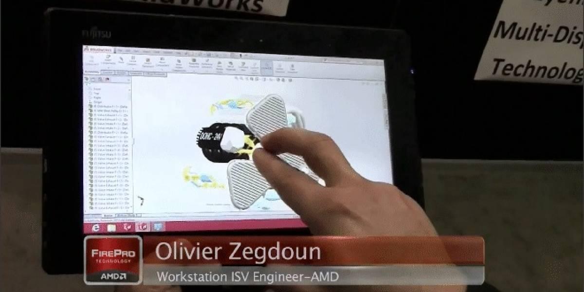 AMD muestra SolidWorks 2013 corriendo en un APU FirePro para tablets