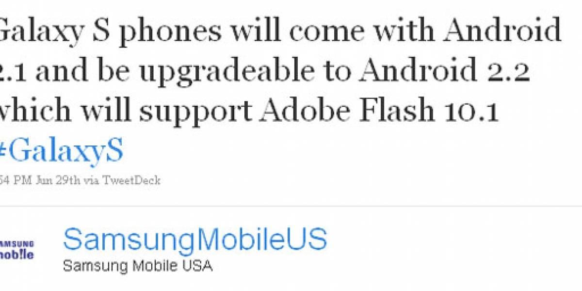 Samsung anuncia que Android 2.2 arribará a los móviles Galaxy S