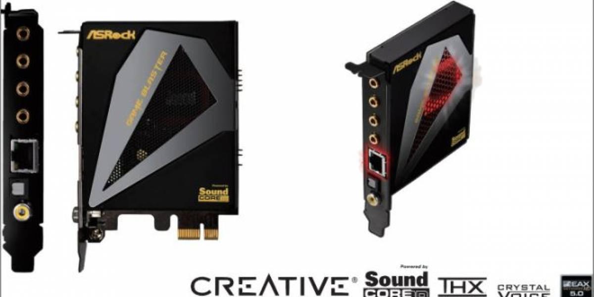 Tarjeta de sonido Asrock Game Blaster también disponible por separado