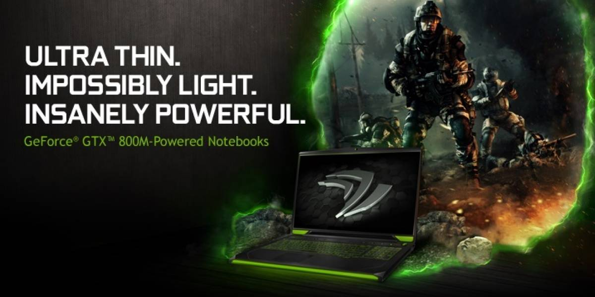 NVIDIA lanza sus GPUs GeForce 800M Notebook Series