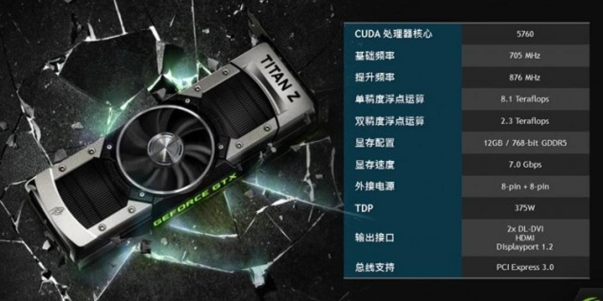 """ASUS revela las especificaciones de la tarjeta gráfica NVIDIA GeForce GTX Titan Z """"Dual-GK110B"""""""