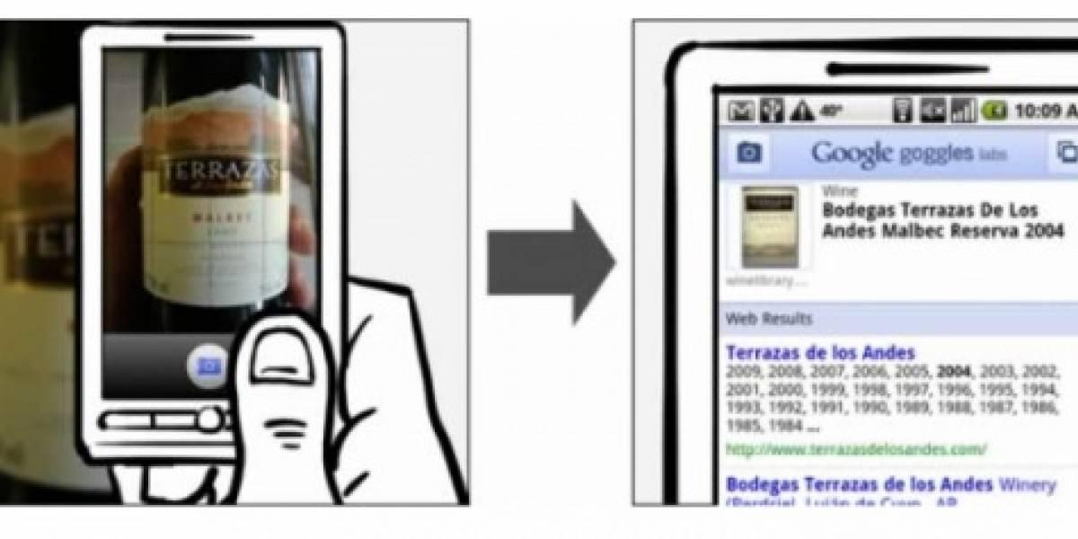 Google Goggles en un Xperia X10