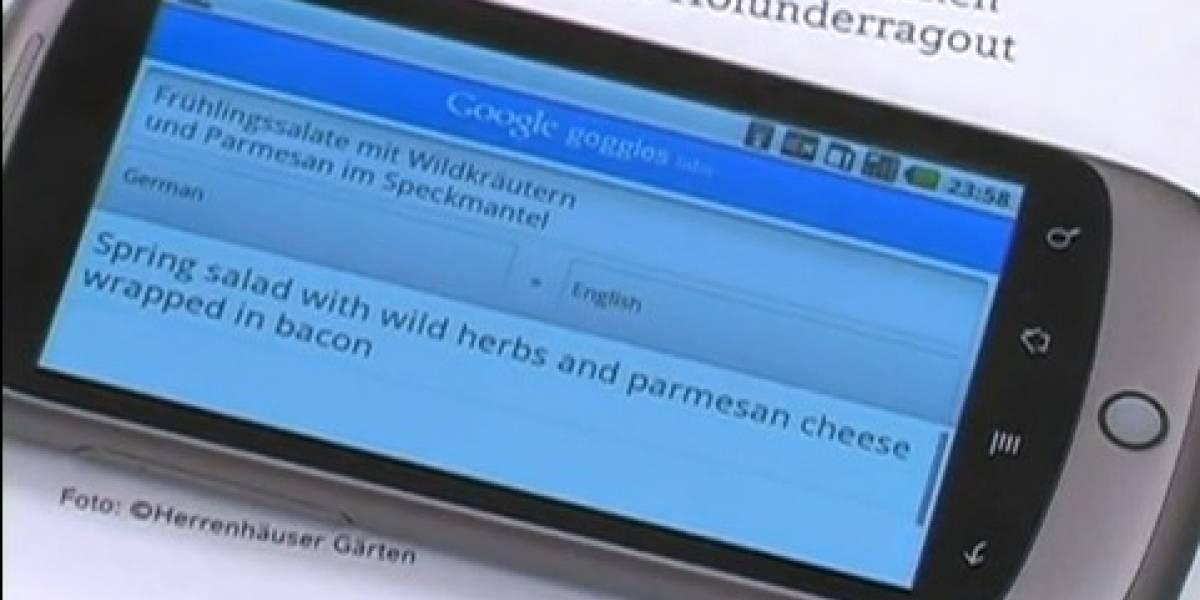 MWC10: Google Goggles incorpora traducción de textos