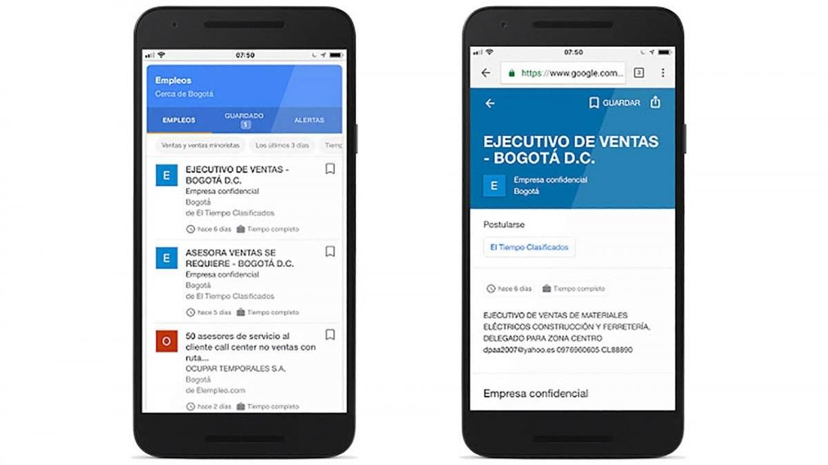 Google y su nueva función para conseguir empleo