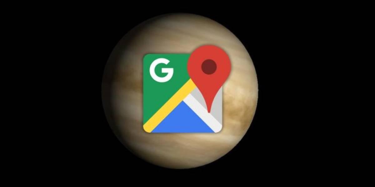 Venus, Plutón y varias lunas llegan a Google Maps
