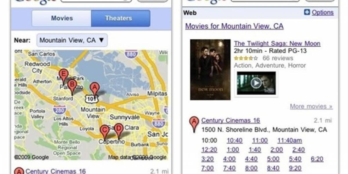Google te ayuda a la hora de ir al cine