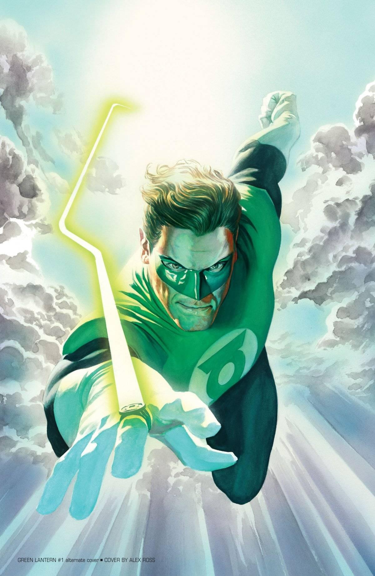 Lanterna Verde - capa variante aquarela Alex Ross/Reprodução