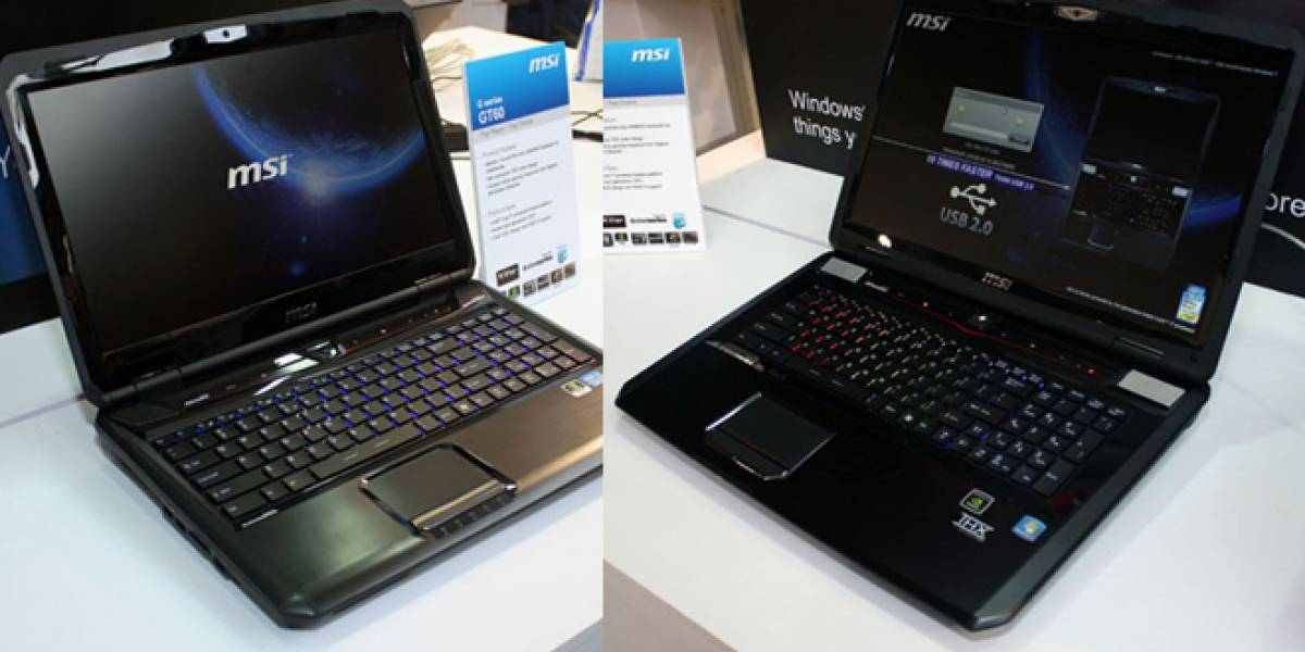 CeBIT 2012: MSI muestra dos notebooks de gama alta para gamers