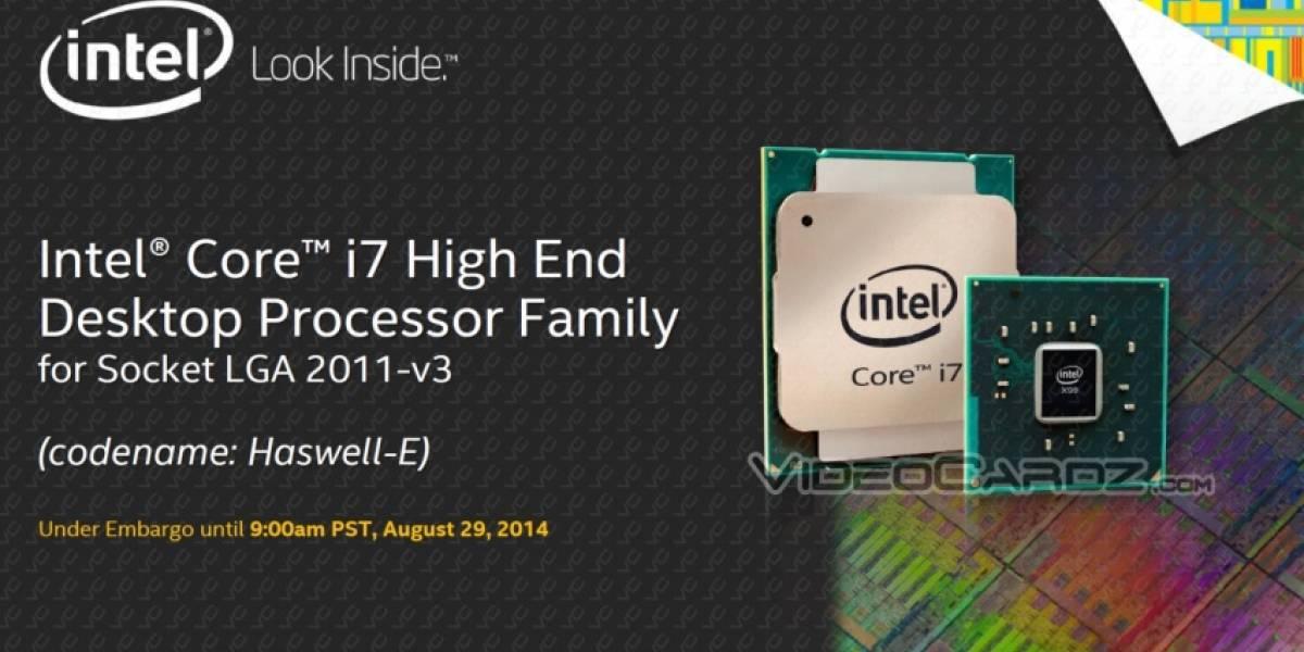 """Confirmado: CPUs Intel Core HEDT de cuarta generación """"Haswell-E"""" llegan este 29 de agosto"""