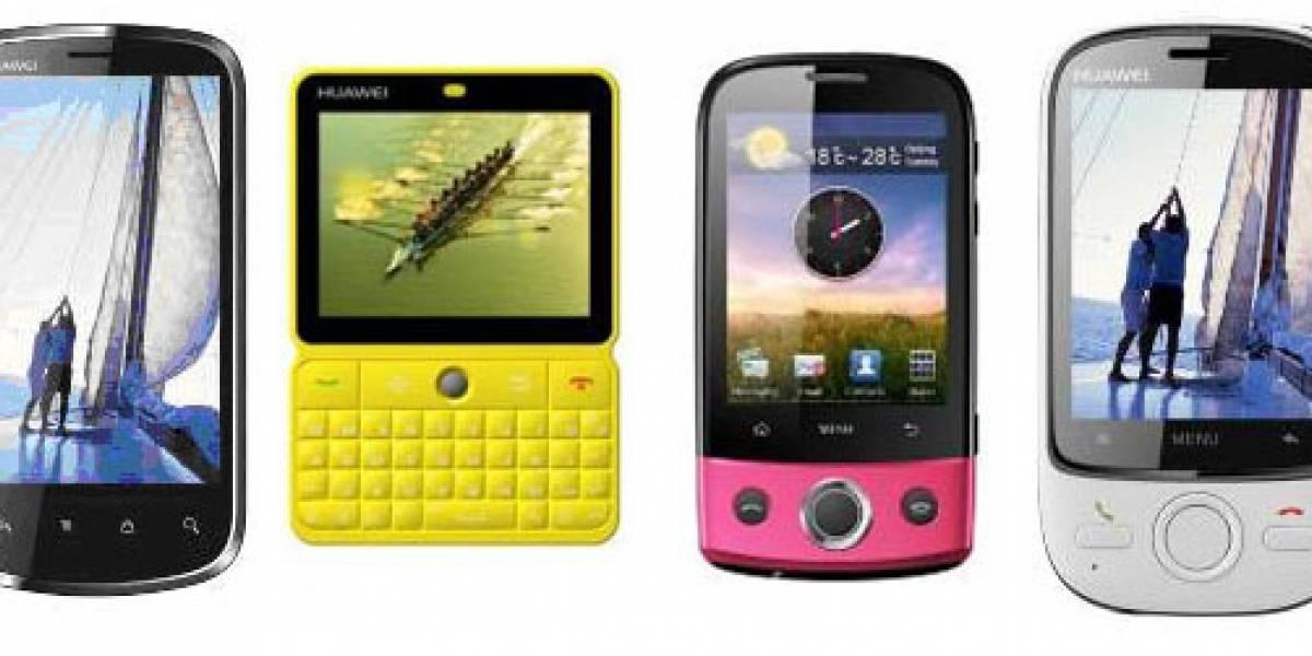 MWC10: Huawei presentó el cuatro nuevos modelos Android