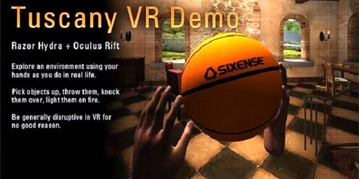 Tuscany VR Demo de Oculus Rift, ahora compatible con el gamepad Razer Hydra