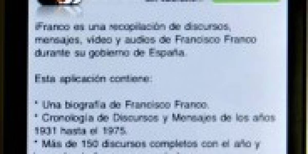 Aplicación de Franco para iPhone causa polémica en España