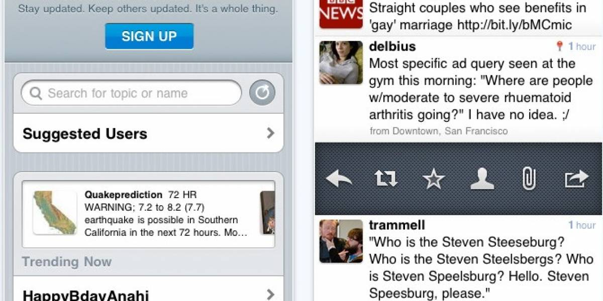 Twitter for iPhone ya está disponible
