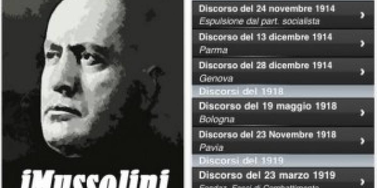 Retiran aplicación con los discursos de Mussolini de iTunes