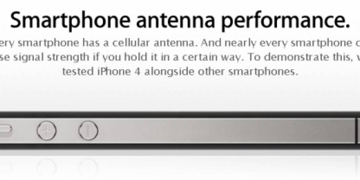 Apple explica en su sitio que el problema de señal afecta a todos los teléfonos
